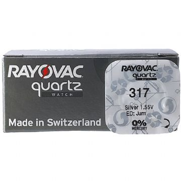 Rayovac 317 SR516SW 1.5V Silver Oxide Watch Battery